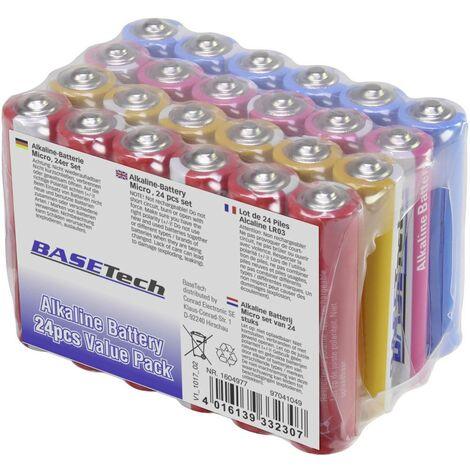 Basetech Micro (AAA)-Batterie Alkali-Mangan 1170 mAh 1.5V 24St. X710441