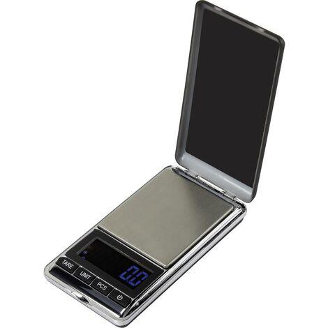 """main image of """"Basetech SJS-60007 Balance de poche Plage de pesée (max.) 500 g Lisibilité 0.1 g à pile(s) argent"""""""