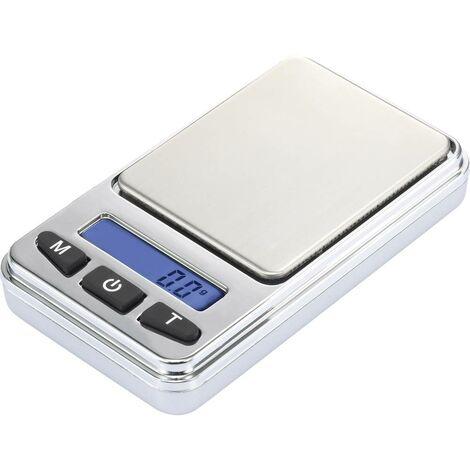 """main image of """"Basetech SJS-60008 Balance de poche Plage de pesée (max.) 200 g Lisibilité 0.01 g à pile(s) argent"""""""