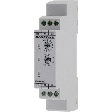 Basetech ZR-RV-BAT Zeitrelais Monofunktional 1 St. Zeitbereich: 0.05s - 10h 1 Wechsler S517231