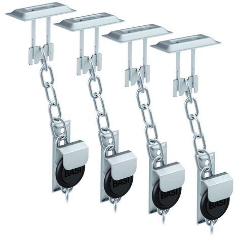 BASI® 2x Gitterrostsicherung GS100 Stahl verzinkt Zusatzsicherung für Lichtschacht / Kellerschacht