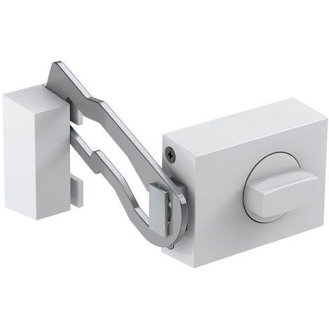 BASI® Kastenzusatzschloss mit Sperrbügel KS500 Tür-Zusatzschloss Edelstahl, Silber, Weiß, Braun