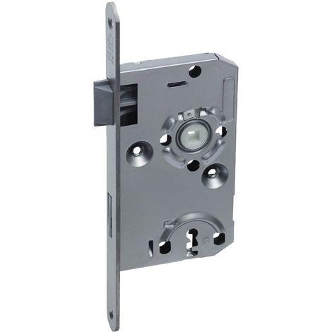 BASI® Zimmertür-Einsteckschloss DIN rechts   links ES922 Nickel silber Buntbart-Schlüssel Tür-Schloss abgerundeter Stulp