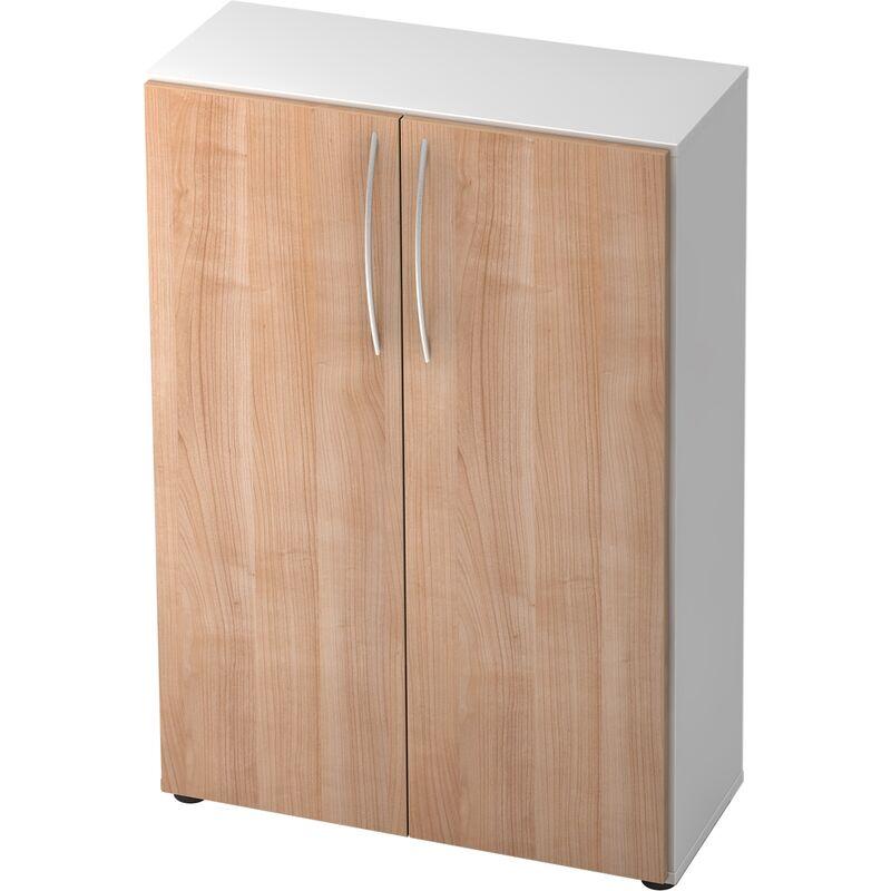 B.m. - bümö Basic Aktenschrank Dekor: Weiß/Nussbaum