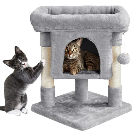"""main image of """"Basic Cat Tree Condo 59cm Spicious Cat House Small Cat Tree w/Perches/Durable Sisal Scratching Post Cat Towers for Indoor Cats"""""""