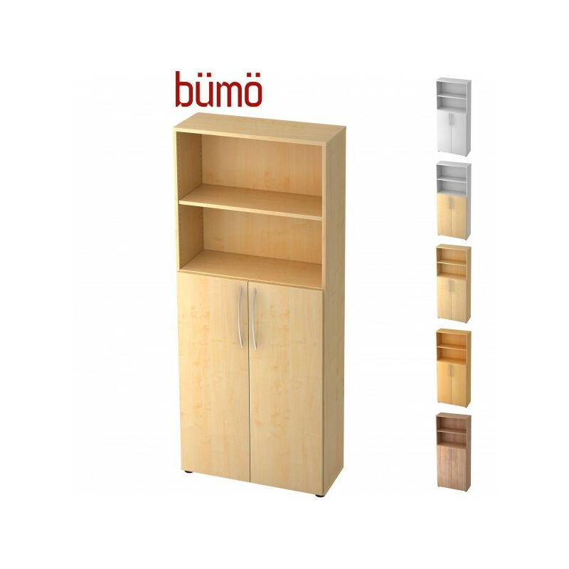 bümö Basic Regalschrank Dekor: Buche/Silber