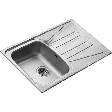 Basico 86 1 cuve 1 égouttoir évier inox toile - Façon Inox