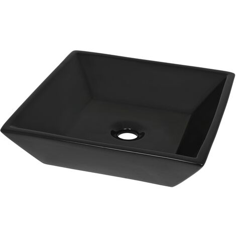 Basin Ceramic Square Black 41.5x41.5x12 cm