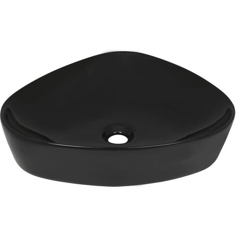 Basin Ceramic Triangle Black 50.5x41x12 cm
