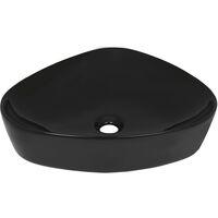 Basin Ceramic Triangle Black 50.5x41x12 cm