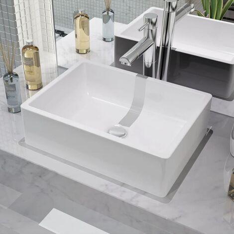 Basin Ceramic White 41x30x12 cm