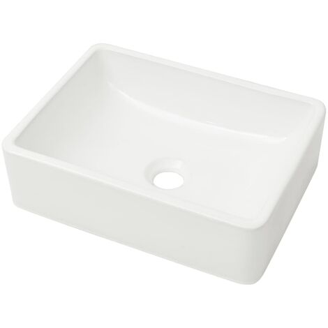 Basin Ceramic White 41x30x12 cm