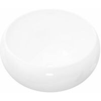 Basin Round Ceramic White 40x16 cm