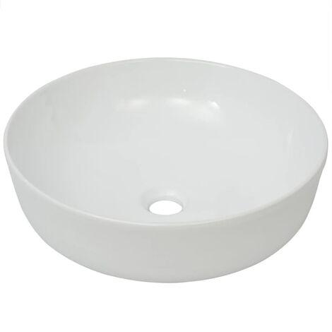 Basin Round Ceramic White 41.5x13.5 cm