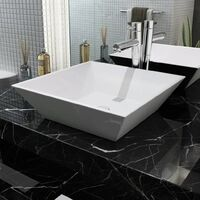 Basin Square Ceramic White 41.5x41.5x12 cm