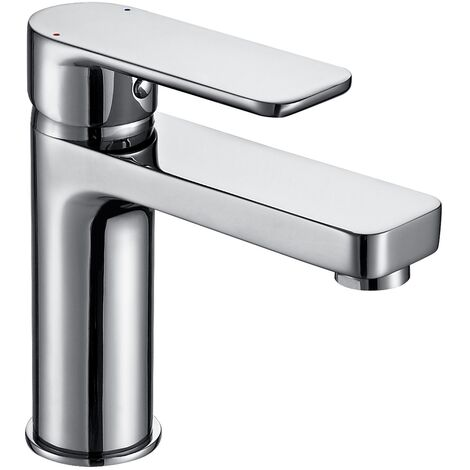 Basin Tap Modern Bathroom Sink Taps Mono Mixer Single Lever Handle Chrome Finish