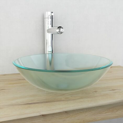 Basin Tempered Glass 42 cm Frosted