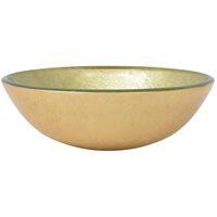 Basin Tempered Glass 42 cm Gold