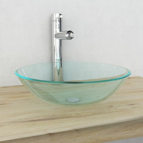 Basin Tempered Glass 42 cm Transparent