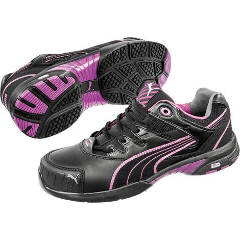 b876918e19075 Basket de sécurité basse femme Puma Stepper Low S2 HRO SRC Noir / Rose