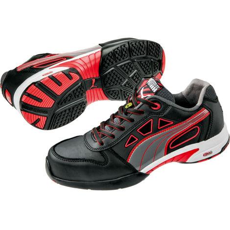42edced72846 Baskets de sécurité basses femme Puma Stream Red S1 ESD HRO SRC Noir /  Rouge 37