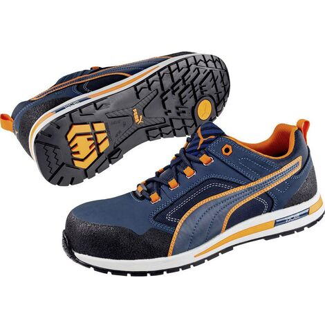 Baskets de sécurité Crosstwist S3 HRO SRC Puma Bleues/Oranges