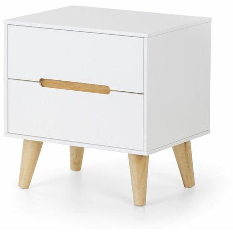Basoni 2 Drawer Wide Bedroom Chest Sc Inavian White Oak Legs