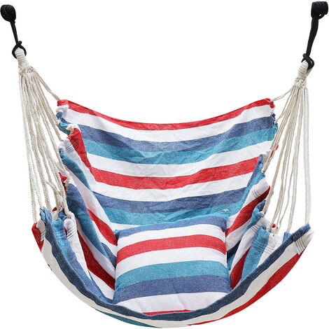 Bassinet Chair + Two Pillows Blue+White Stripes