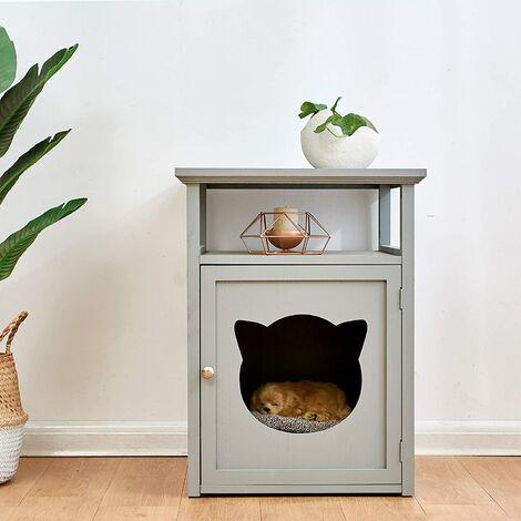 BASTET Wooden Cat Cave Bedside Cabinet