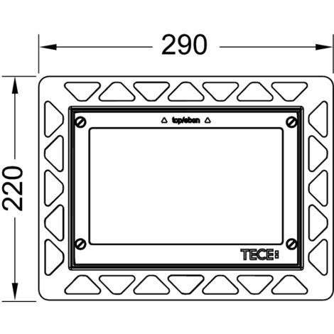Bastidor de montaje TECE WC para montaje empotrado, color: Chapado en oro - 9240648