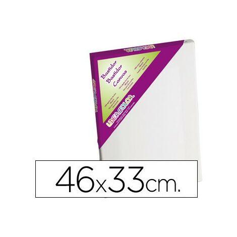 Bastidor lidercolor 8p lienzo grapado lateral algodon 100% marco pawlonia 1,8x3,8 cm bordes madera 46x33 cm