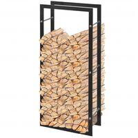 Bastidor rectangular de almacenamiento para leña 100 cm
