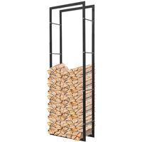 Bastidor rectangular de almacenamiento para leña 150 cm
