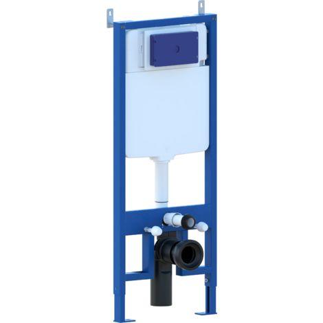Bastidores de soporte con cisterna oculta para inodoro suspendido completo de pulsador con doble boton en acero inoxidable PRODUCTO GIO.50