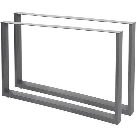 Bastidores para mesa 100x72 cm Recubrimiento polvo gris Caballetes tablero Patas de mesa Bricolaje