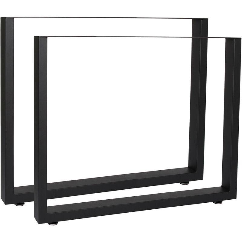 Bastidores para mesa 72x60 cm Recubrimiento polvo negro Caballetes Perfil-X Patas de mesa Bricolaje