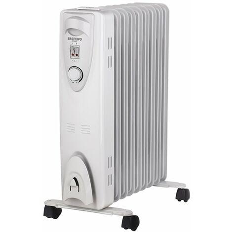 Bastilipo RAC9-2000W - Radiador de fluido termico,9 ele, 2000W, tamaño compacto, Evaporador incluido de Regalo, Blanco