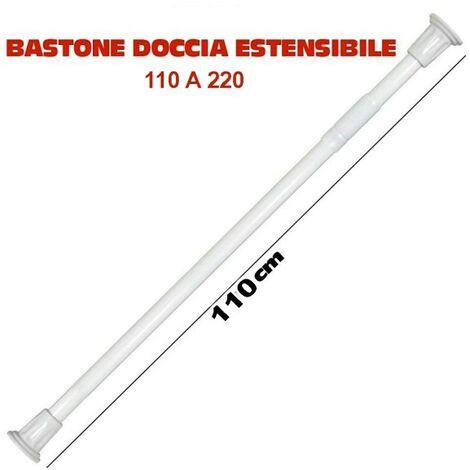 aste per Tende da Doccia Bastone telescopico Estensibile per Tende Asta per Doccia EBTOOLS Bastone per Tende 105-220 cm Asta da Bagno