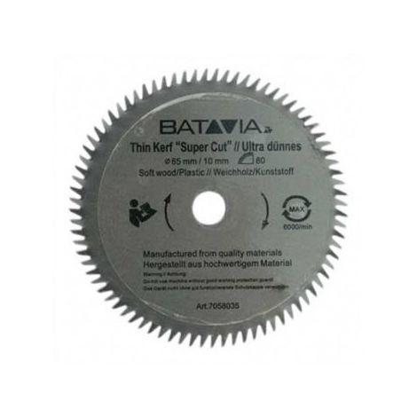 Batavia Lame de scie HSS Ø 85 mm. 80 Dents - 2 pièces - MAXX SAW & XXL SPEED SAW