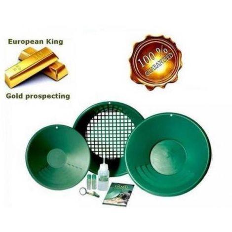 Batea Garrett Gold Pan Kit PIATTI X CERCATORE DORO 1651300 setacci setaccio