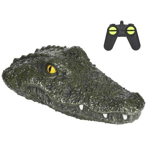 Bateau de course électrique de crocodile de simulation de bateau pour les jouets de parodie de contrôle à distance 2CH 2.4G de piscines
