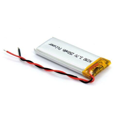 Bateria 3,7V 250mA Polimero-Litio Recargable