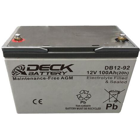 Batería AGM 12v 100Ah | Deck Sellada DB12-92