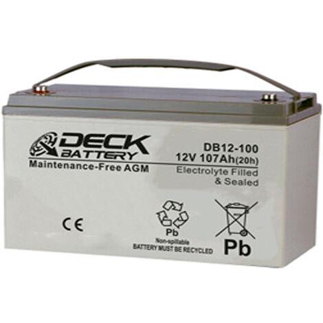Batería AGM 12v 107Ah | Deck Sellada DB12-100