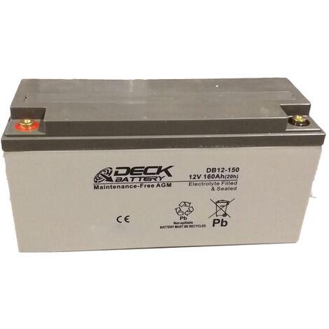 Batería AGM 12v 160Ah | Deck Sellada DB12-150