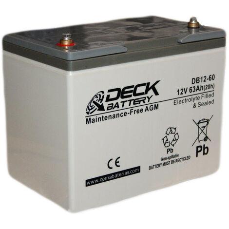 Batería AGM 12v 63Ah | Deck Sellada DB12-60