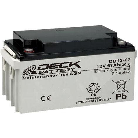 Batería AGM 12v 67Ah | Deck Sellada DB12-67