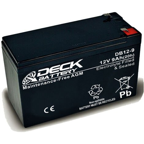 Batería AGM 12v 9Ah | Deck Sellada DB12-9