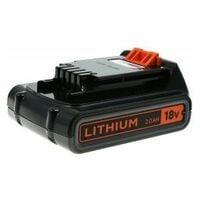 Batería Black & Decker 18V 2.0Ah para todas las Herramientas de Jardín de 18V con anclaje tipo Carril (BL2018) Original