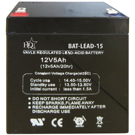 Batería de ácido de plomo 12V 5 Ah HQ